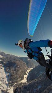 Fallschirmsprung aus Tandem Gleitschirm