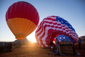 Zu windig fürs Starten von deutschem und amerikanischem Ballon