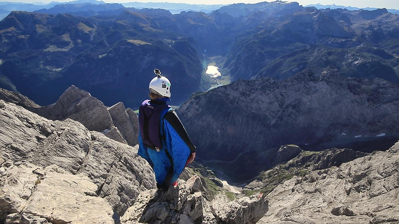 Watzmann Ostwand mit dem Wingsuit